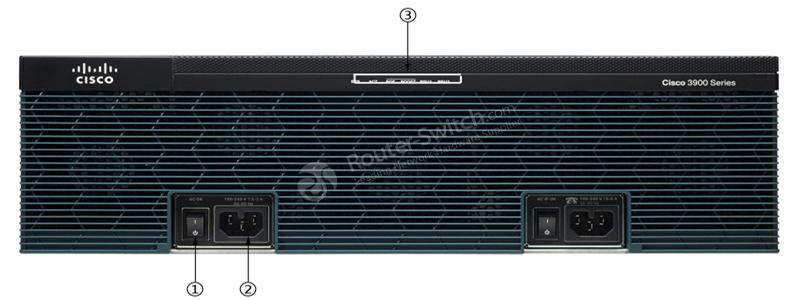 CISCO3925E/K9 Front Panel