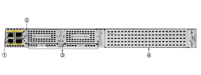 CISCO ISR4331-SEC/K9 Back Panel