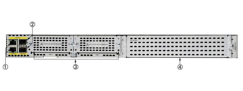 Cisco ISR4331/K9 Back Panel