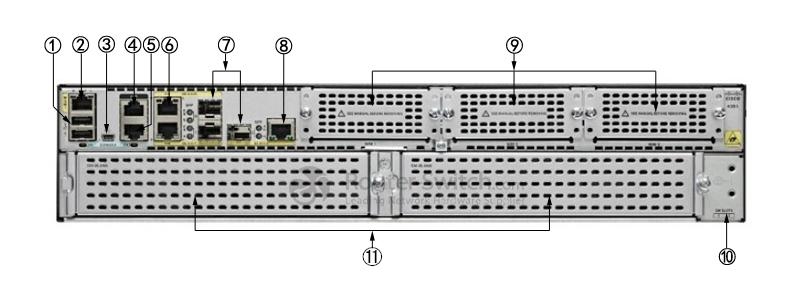 Cisco ISR4351/K9 Back Panel
