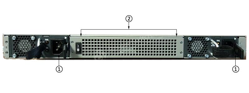Bảng điều khiển phía sau Cisco ASR1001-X