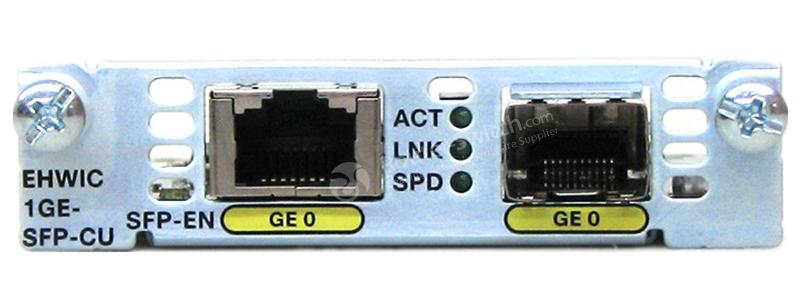 EHWIC-1GE-SFP-CU Front View