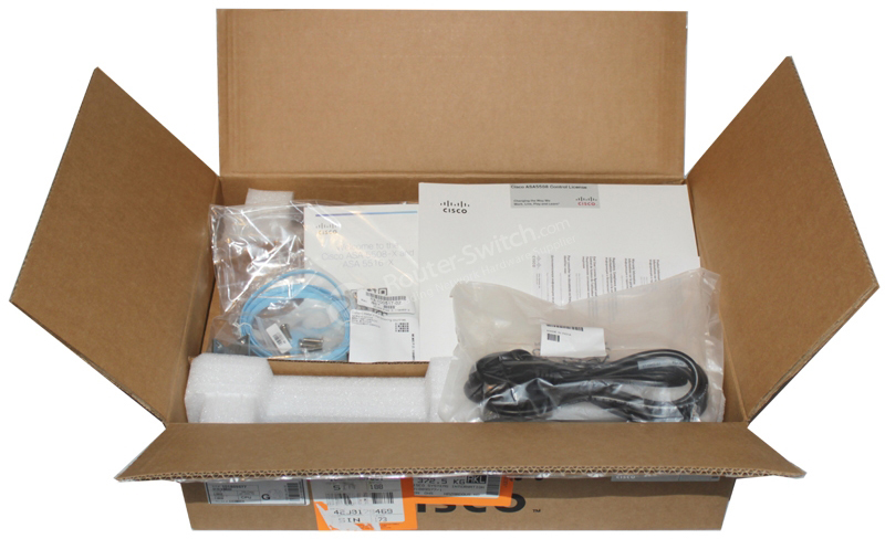 ASA5508-K9 unboxing view