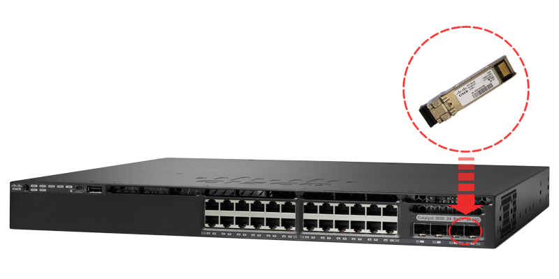 SFP-10G-SR installed in a switch