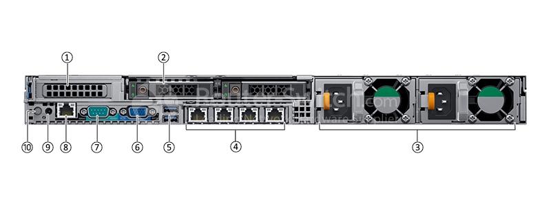 Dell PowerEdge R640 3104/8G/600G SAS 10K/H330/DVDRW/495W/2 5-8 Server
