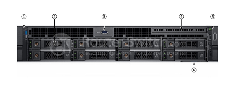 Dell PowerEdge R740 3104/8G/600G SAS 10K/H330/DVD/495W/3 5-8 Server