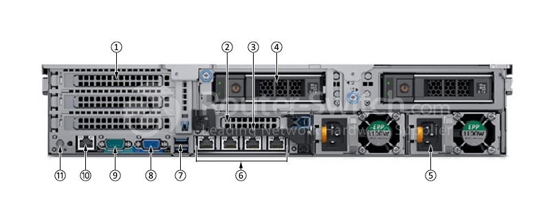 Dell PowerEdge R740XD 4110/8G/600G SAS 10K/H330/495W/3 5-12 Server