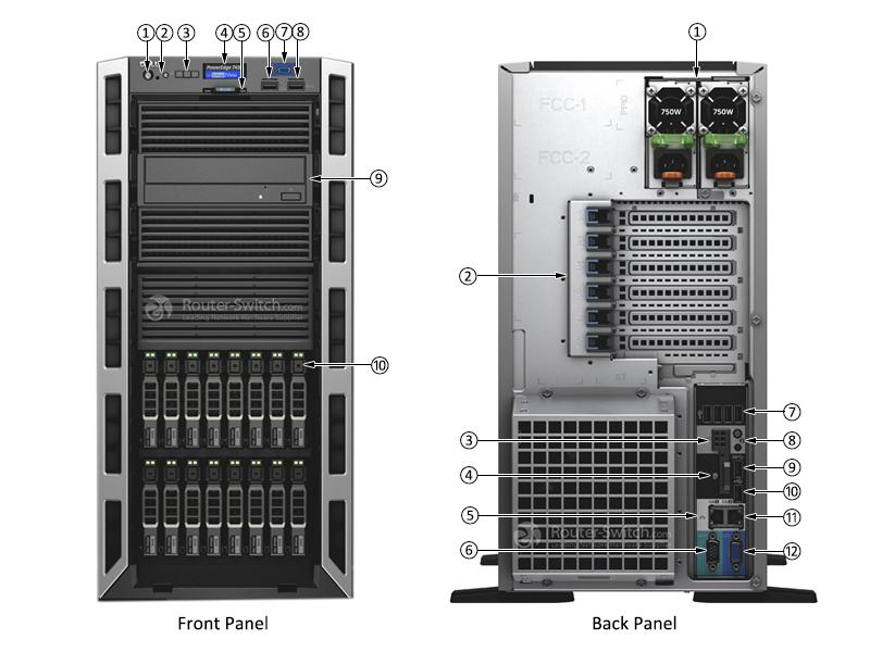 Dell PowerEdge T430 Xeon E5-2630 v4 16GB 2TB SAS H330 Tower Server