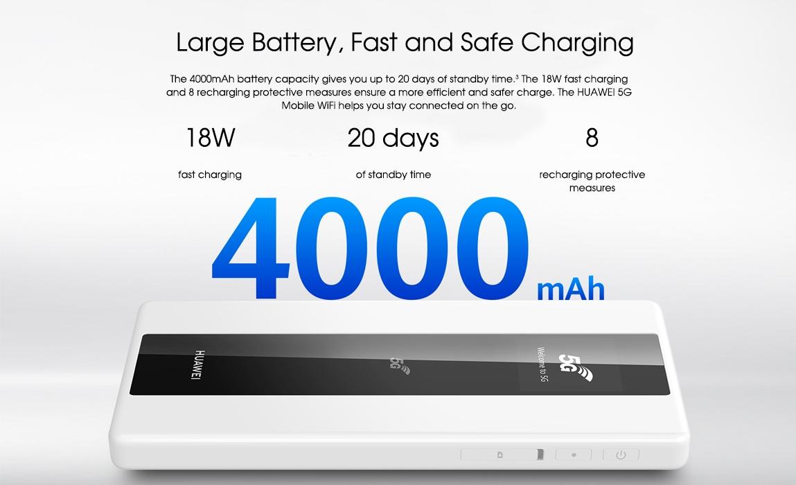 huawei 5g mobile wifi-4000 mAh Large Battery