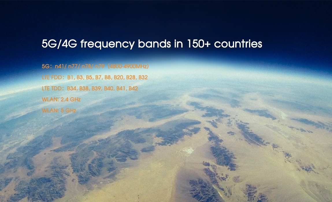 huawei 5g mobile wifi-5G4G frequency bands in 150+ countries