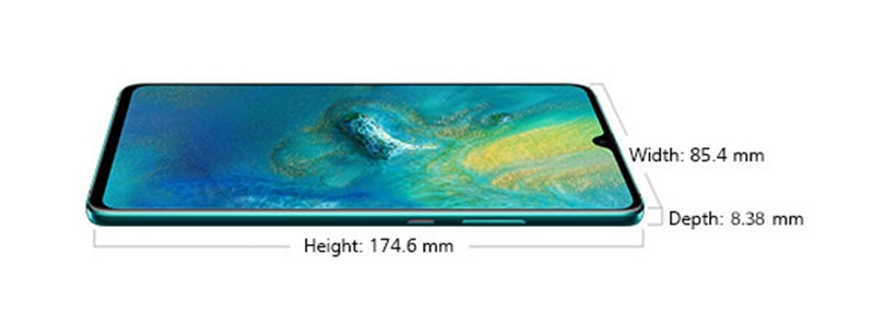 Huawei Mate 20 X (5G) dimension