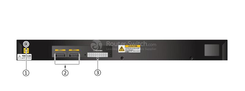 S5720-32X-EI-24S-DC Back Panel