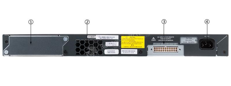 WS-C2960X-24TS-L Back Panel