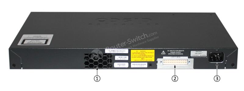 WS-C2960X-24TS-LL Back Panel